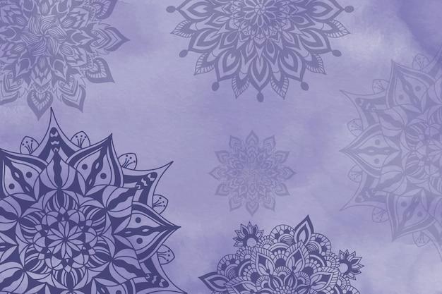 Fond de mandala peint à la main