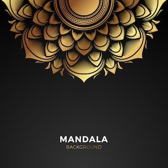 Fond de mandala premium gold