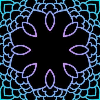 Fond de mandala rond en dentelle ethnique ornementale orientale dessinée à la main pour carte de conception, invitation à une fête, affiche de yoga, brochures de mode, album cadeau, scrapbook, etc.