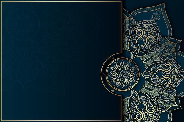 Fond de mandala sombre détaillé