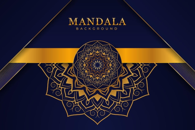 Fond de mandala de style avant enveloppe de luxe