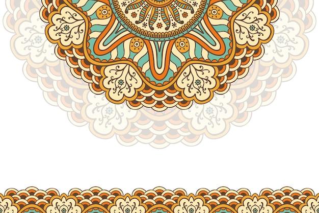 Fond de mandala vintage dessiné à la main