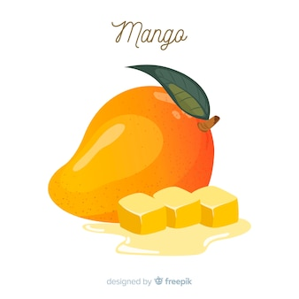 Fond de mangue dessiné à la main