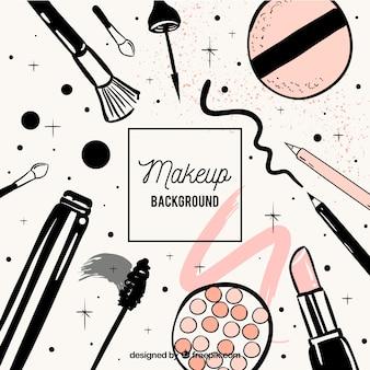 Fond de maquillage avec style dessiné à la main
