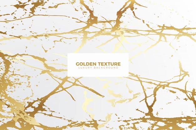 Fond de marbre doré réaliste