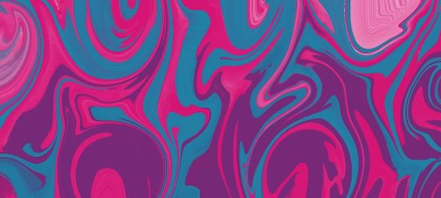 Fond de marbre liquide rouge et bleu abstrait