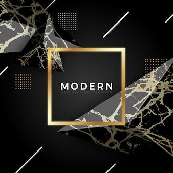 Fond de marbre de luxe d'or