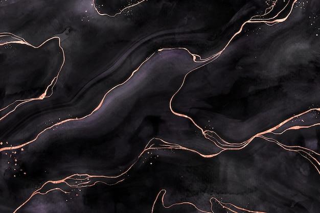 Fond de marbre noir et doré