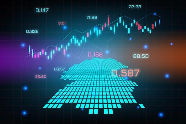 Fond de marché boursier ou graphique d'entreprise de trading forex pour le concept d'investissement financier de la carte de l'allemagne.