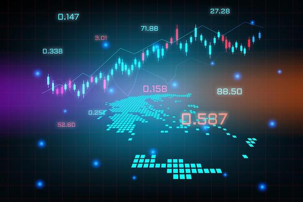 Fond de marché boursier ou graphique d'entreprise de trading forex pour le concept d'investissement financier de la carte de la grèce.