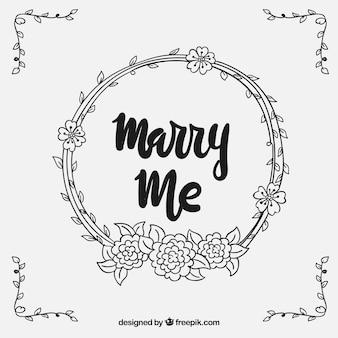 Fond de mariage couronne florale