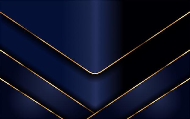 Fond marine moderne avec des lignes dorées claires