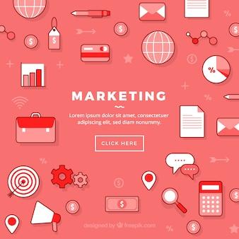 Fond de marketing des médias sociaux