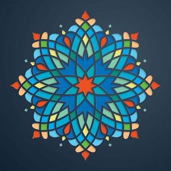 Fond maroc beau cercle coloré ornement