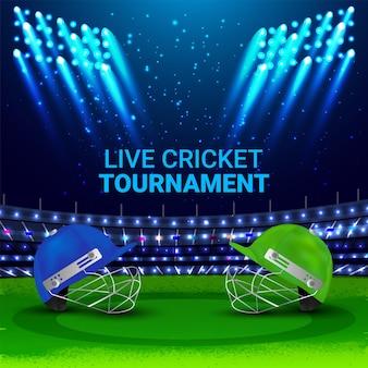 Fond de match de tournoi de championnat de cricket