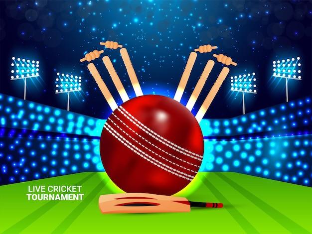 Fond de match de tournoi de cricket en direct