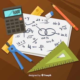 Fond matériel maths de dessin animé