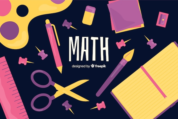 Fond de maths de dessin animé