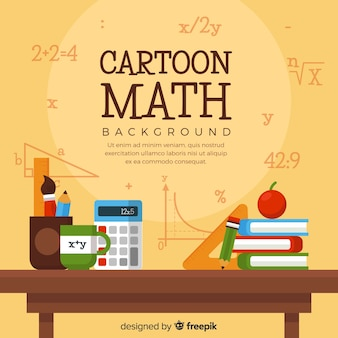 Fond de maths de dessin animé