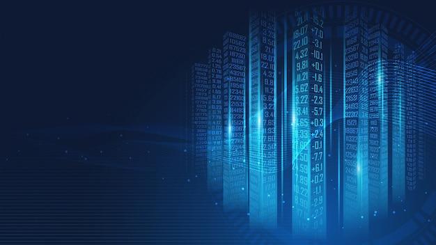 Fond de matrice de code de données numériques