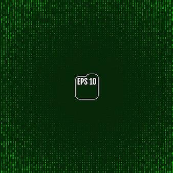 Fond matriciel avec les symboles verts
