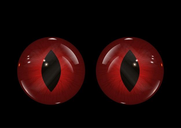 Fond de mauvais yeux halloween