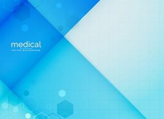 Fond médical abstrait en couleur bleue