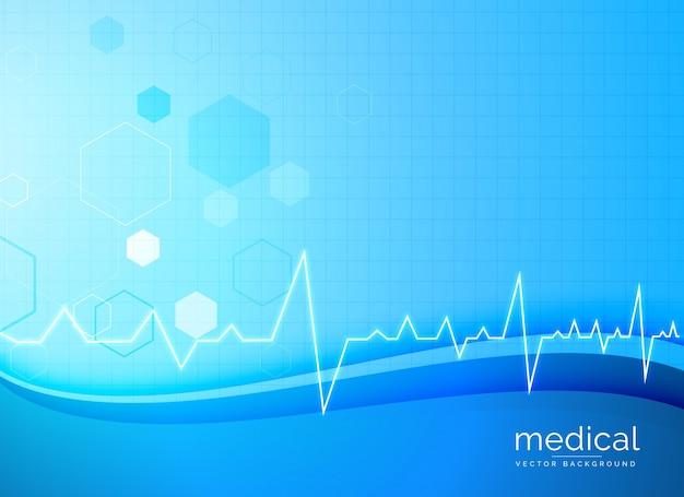 Fond médical avec la forme ondulée bleue
