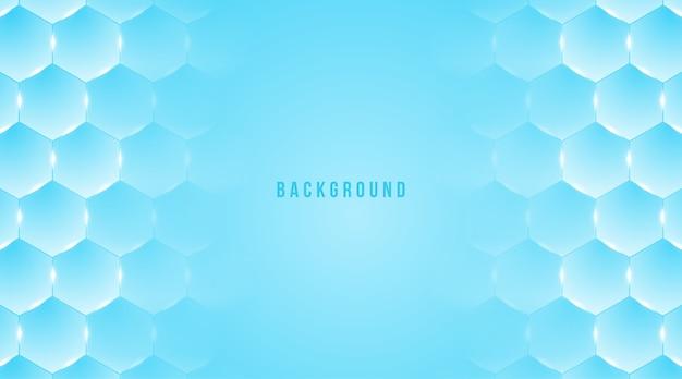 Fond médical hexagonal hexagone bleu