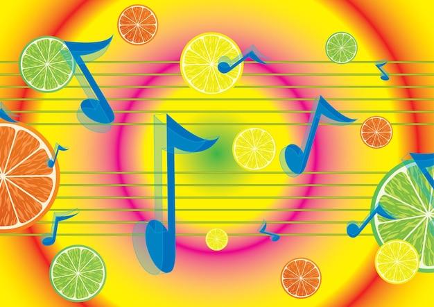 Fond de mélodie juteuse