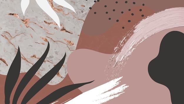 Fond de memphis botanique brun