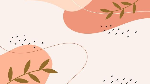 Fond de memphis naturel pastel abstrait