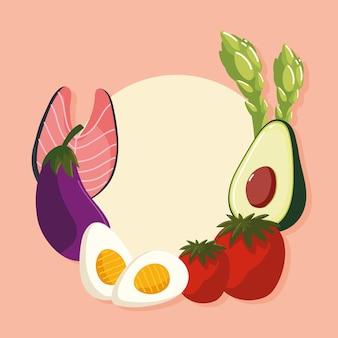 Fond de menu bio frais alimentaire