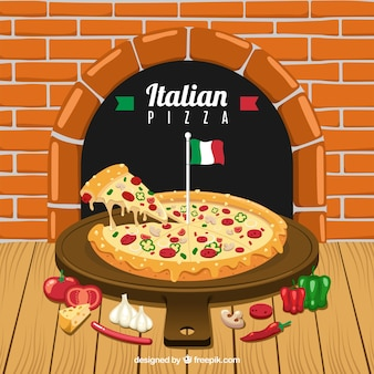 Fond de menu de restaurant italien