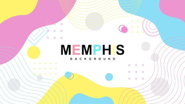 Fond de mephis moderne avec des formes minimalistes b