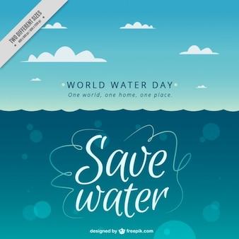 Fond de la mer pour la journée mondiale de l'eau