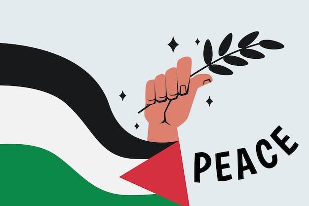 Fond de message de paix illustré