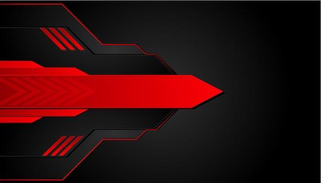 Fond métal noir et rouge. bannière métallique de vecteur. abstrait de technologie