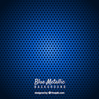 Fond métallique abstrait bleu