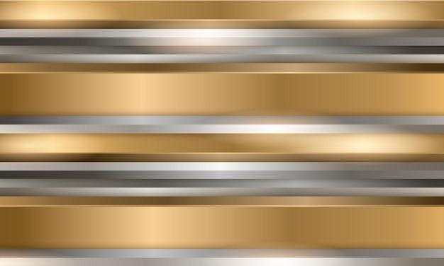 Fond métallique abstrait or et argent de luxe