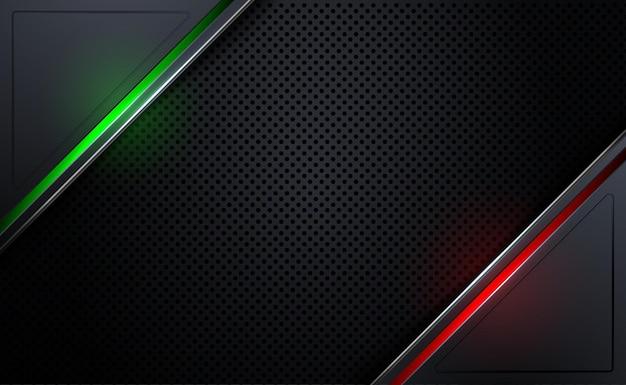 Fond métallique abstrait avec plaque raster lumière rouge et verte texture de plaque d'acier beehive