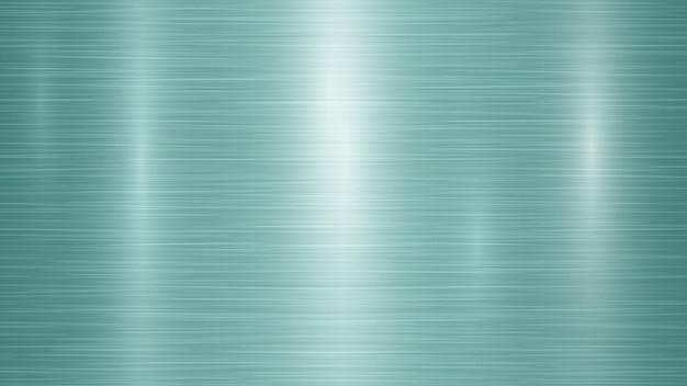 Fond métallique abstrait avec des reflets dans des couleurs turquoises