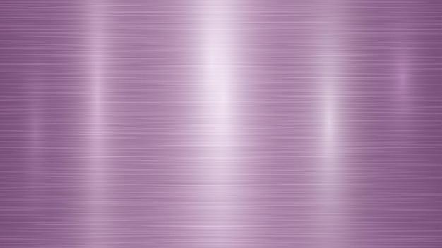 Fond métallique abstrait avec des reflets dans des couleurs violettes