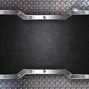 Fond métallique en acier noir