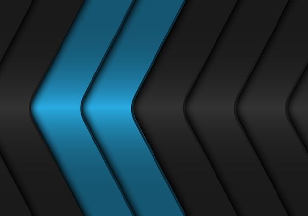 Fond métallique de flèche gris foncé bleu abstrait.