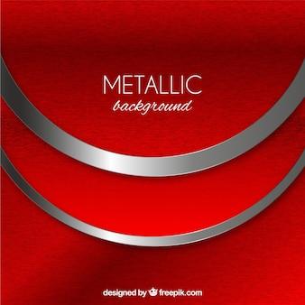 Fond métallique avec des formes abstraites