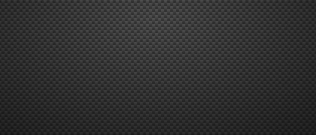 Fond métallique noir géométrique. petits carrés d'entrelacs en abstraction d'acier minimaliste d'entrelacs de carbone