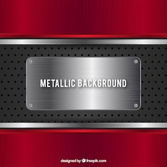 Fond métallique rouge