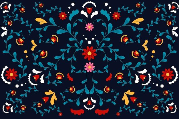 Fond mexicain coloré au design plat