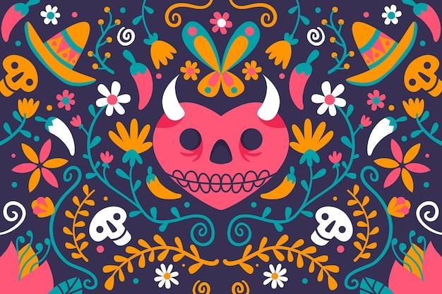 Fond mexicain multicolore